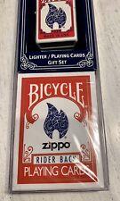 """""""RARE SET"""" ZIPPO LIGHTER / BICYCLE PLAYING CARD SET 24880"""