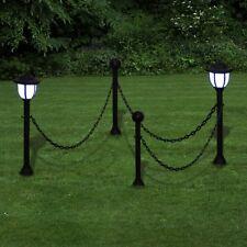vidaXL 2x LED Solar Außenlampe Solarleuchte Außenleuchte Gartenleuchte Laterne