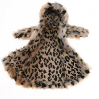 Dolls Winter Plush Coat Fashion Clothes and Accessories for 1/6 Doll-Leopard