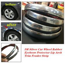 5M Silver Car Wheel Rubber Eyebrow Protector Lip Arch Fender Strip Fit for BMW