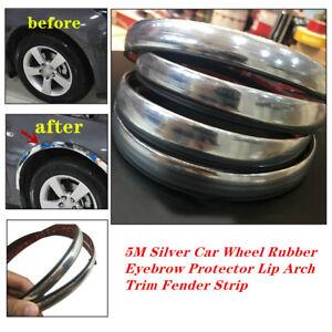 5M Silver Car Wheel Rubber Eyebrow Protector Lip Arch Fender Strip Fit for BMW