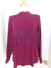 ANA purple lace top size petite M