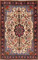 Decorative IVORY Floral Bidjar Area Rug Handmade Medallion Oriental Carpet 6x9