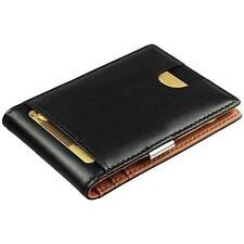 Geldbörse mit Geldklammer aus Echt-Leder - Geldbeutel mit RFID Schutz