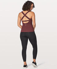 NWT Lululemon Sz 8 Long Breath 2-In-1 Tank Light Support For B/C Cup Redwood