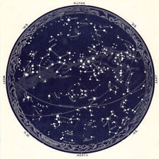 """12"""" x 12"""" Poster – Vintage Star Map of Constellations (Picture Zodiac Astrology)"""
