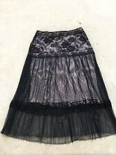 LA PERLA - Marvel lace black/nude Skirt IT44