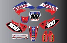 HONDA CRF/CR MOTOCROSS GRAPHIC AND PLASTICS LUCAS OIL ALL YEARS N CC