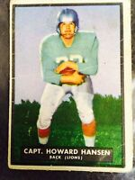 1951 TOPPS MAGIC #13 CAPT. HOWARD HANSEN, Back For Lions