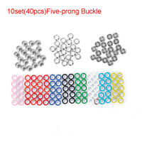 Scrapbooking Round Stud Fasteners  Snap Buttons Five-prong Buckle Press Button