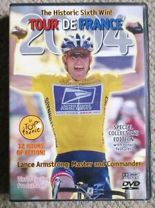2004 Tour De France World Cycling Productions 6 DVD 12 hrs Lance Armstrong Clean