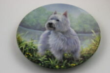 Royal Worcester Plate West Highland White Terrier by John Silver SIGNED Plate N6