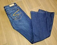 Seven7 Womens Size 26 Inseam 30 Flare Jeans Dark Wash MINT Condition