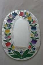 SUPERBA A Mano Mosaico Specchio con fiori 60 x 40 cm di larghezza