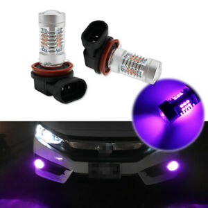 2x Pink Purple H11/H8 LED Fog Driving Lights DRL Bulbs For 2006-2018 Honda Civic
