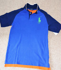 1db0e6e2102810 Nouveau Polo Ralph Lauren Big Pony Garçons Bleu Bleu Marine Orange Polo  T-Shirt .