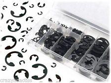 300 Pieces E-Clip Assortment Kit Set Black Oxide Finish Retaining Ring Circlip