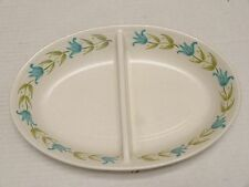 Franciscan stoneware Tulip Time 1963-73 DIVIDED SERVING BOWL