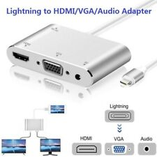 Lightning to HDMI VGA 3.5mm AV Cable Adapter For iPhone iPad Air TV Converter US