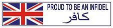 Infidel British Troops Para, RM, RCT, REME , Rifles, Light Infantry,  Sticker