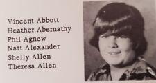 Vincent Vinnie Paul Abbott 7th Grade  Jr High School Yearbook 1977 Pantera