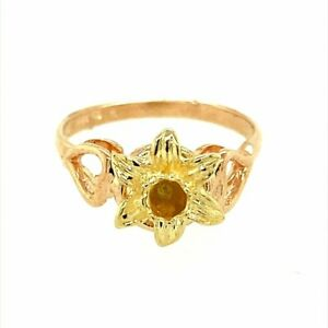 9ct Gold Welsh Gold Daffodil Ring