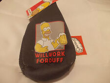 HOMER SIMPSON WILL WORK FOR DUFF BEER JACKET FREE POSTAGE IN THE UK