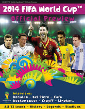 Fifa World Cup WC 2014 Official Preview Magazine SOCCER Collectors Brand New