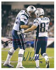 TOM BRADY AND WES WELKER SIGNED AUTOGRAPH 8x10 RP PHOTO NEW ENGLAND PATRIOTS DUO