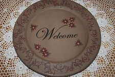 "Karen Schwarz Large 13"" Woodenware Plate #32161 Hearthside Collection Christmas"