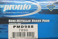 BRAND NEW PRONTO BRAKE PADS PMD988 / D988 FITS VEHICLES LISTED ON CHART