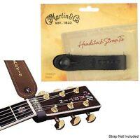 Martin Guitarra Acústica Cabezal CORREA DE CUERO botón negro 18a0031