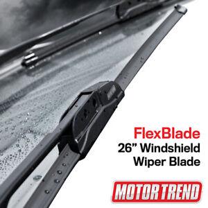 "Motor Trend Car Wiper Blades Size 26"" All Season Bracketless Car Direct Connect"