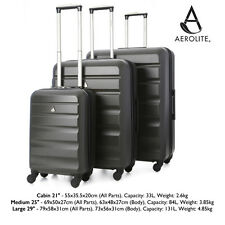 Aerolite Large Super Lightweight ABS Hard Shell Travel Hold Check in Luggage 4