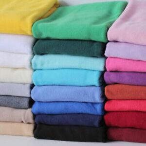 "Premium Quality Plain Anti Pill Polar Fleece Soft Warm Winter Fabric 58"" Meter"