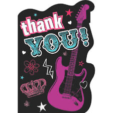 PRINCESS ROCKER THANK YOU NOTES (8) ~ Birthday Party Supplies Stationery Cards