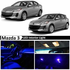 10x Blue LED Light Interior Package 2010-2014 Mazda 3 Sedan Hatchback