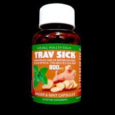 ⭐⭐⭐⭐⭐ TRAV SICK stop any travel sickness fast 100% herbal 60 capsules per bottle