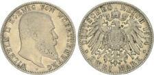 Kaiserreich 2 Mark Württemberg Wilhelm II 1904 F ss-vz 48681