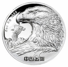 2021 China Chinese Golden Eagle 2 oz Silver High Relief Proof Medal JK956