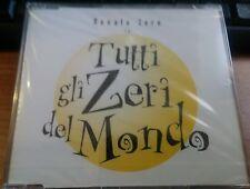 RENATO ZERO - TUTTI GLI ZERI DEL MONDO - CD SINGOLO SIGILLATO (SEALED)