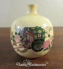 Japanese Satsuma Rickshaw Pottery Weed Pot Vase