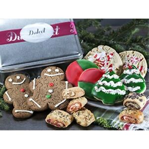 Gourmet Holiday Festive Tin- With Fresh Cookies, and Ruggelah