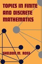 Topics in Finite and Discrete Mathematics Ross, Sheldon M. Paperback Book VeryGo