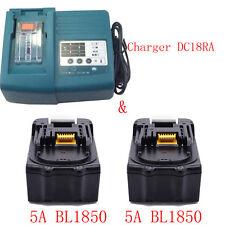 2Pcs Replace Makita 18V 5Ah  LXT Li-Ion BHP456 BL1850 Battery - LG & DC18RC UK