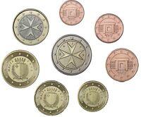 Malta KMS 2013 Kursmünzensatz 1 Cent bis 2 Euro im Münzstreifen