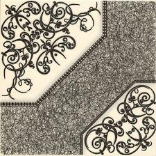 Fliesen Feinsteinzeug Bodenfliesen Muster Polonaise 418x418 weiß