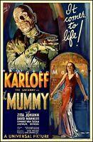 The Mummy 1932 Horror Movie Film Vintage Poster Print Retro Design Advert