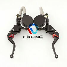 Universal Hydraulic Brake Clutch Master Cylinder Reservoir Levers US Shipping
