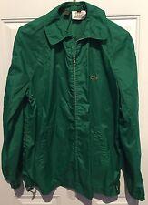 MENS Lacoste Izod Rain stopper Vintage Jacket Medium Green Alligagtor EUC